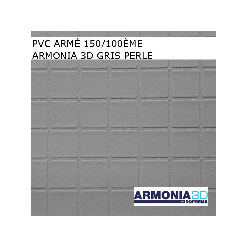 Armonia 3d piscine pvc armé touch sensitive imitation carrelage gris clair gris perle en relief échantillon modèle photo